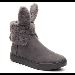 Shoes - Women's gray bunny boots